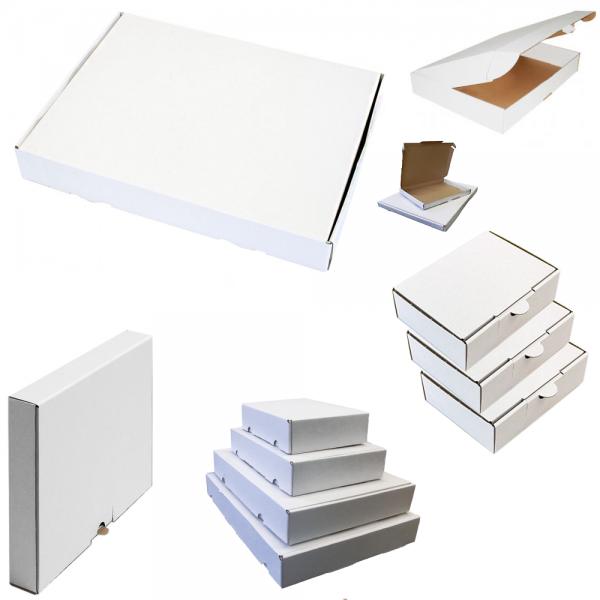 Maxibriefkarton 180 x 130 x 45 mm - Weiß