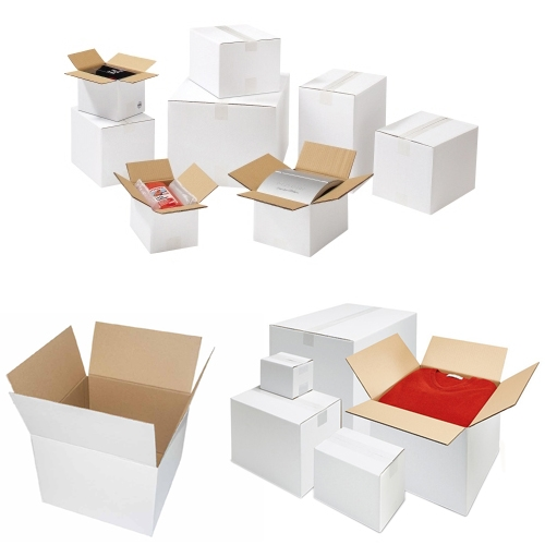 Faltkarton 300x300x300 mm - 1-wellig - Weiß